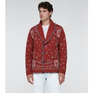 Alanui Bandana jacquard cardigan - Best Cardigans for Men: Unique Bandana Pattern Cashmere Cardigan