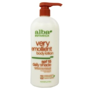 Alba Botanica Natural Very Emollient Body Lotion Daily Shade 15 SPF - Best Sunscreen Lotion for Body: Sunscreen Body Lotion