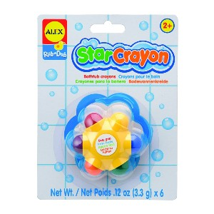 Alex Rub a Dub Star Crayon - Best Crayons for 1 Year Old: Star-Shaped Crayon