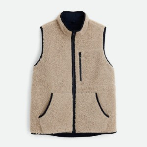 Alex Mill Reversible Utility Vest in Sherpa - Best Vests for Winter: Reversible Vest with Fuzzy Sherpa Fleece