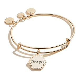 Alex and Ani Because I Love You Expandable Wire Bangle Bracelet - Best Jewelry for Teenage Girl: Gold or silver finish? You choose!
