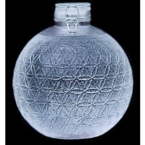 Alive Waters 1 Gallon Globe - Best 1 Gallon Insulated Water Jug: Luxurious Glass Jug