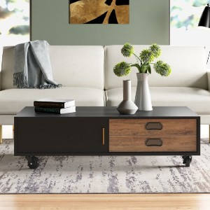 All Modern Oden Coffee Table with Storage - Best Coffee Table with Storage: Coffee Table with Wheels