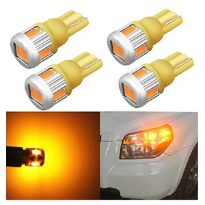 Alla Lighting 4 x 194 LED Bulb Super Bright - Best LED Side Marker Lights: 500% brighter!