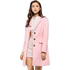Allegra K Women's Notched LapelWinter Coat - Best Raincoats with a Suit: Extraordinarily fashionable