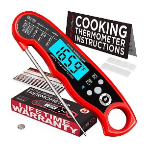 Alpha Grillers Instant Read Thermometer - Best Food Thermometer for Baking: Waterproof probe body