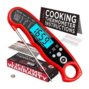 Alpha Grillers Meat Thermometer - Best Food Thermometer Amazon: Safe flip mechanism
