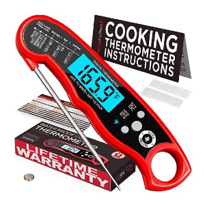 Alpha Grillers Instant Read Meat Thermometer - Best Grill Thermometer for Big Green Egg: Best for budget