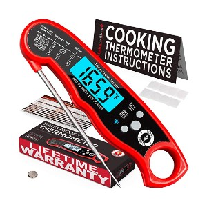 Alpha Grillers Instant Read Meat Thermometer - Best Meat Thermometer Test Kitchen: It is waterproof!