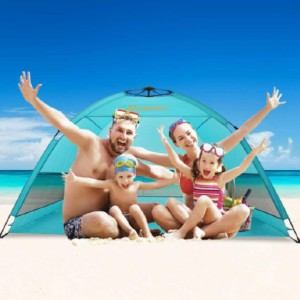 Alvantor Coolhut Plus Beach Tent - Best Beach Tents for Wind: Fast and Easy Opens Up Tent
