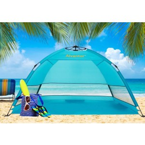 Alvantor Coolhut Plus Beach Tent - Best Beach Tents for Family: Fast and Easy Opens Up Tent