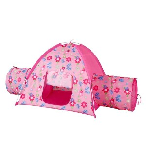 Alvantor Floral Bird Garden Tent And 2 Tunnel Combo - Best Tents for Kids: Cheerful Tent with Two Dome Tunnels