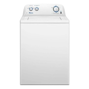 Amana NTW4516FW 3.5 Cu. Ft. White Top Load Washer - Best Washing Machine for Pet Hair: Powerful dual-action agitator