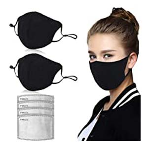 Amazer Tec Activated Carbon Dustproof Mask - Best Masks for COVID: Fit your face perfectly