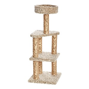 Amazon Basics Cat Activity Tree with Scratching Posts - Best Cat Tree for Apartment: Cat Tree with Sturdy Square-Shaped Base