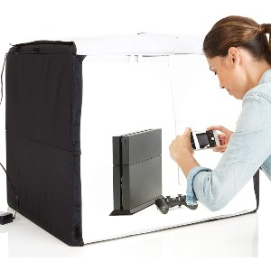 Amazon Basics Portable Foldable Photo Studio Box - Best Lightbox for Food Photography: Simple to unroll and arrange