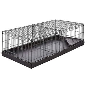 AmazonBasics Small Pet Habitat Cage with Canvas Bottom  - Best Cage for Guinea Pigs: Comes with a divider