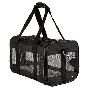 AmazonBasics Soft-Sided Mesh Pet Travel Carrier - Best Pet Carrier for Small Dogs: Well ventilated