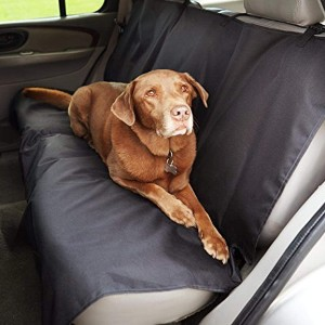 AmazonBasics Waterproof Car Back Bench Seat Cover Protector for Pets - Best Dog Car Back Seat Covers: Simply Use Car Seat Cover