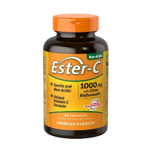 American Health Ester-C with Citrus Bioflavonoids Capsules - Best Vitamin C Supplement for Adults: Gentle on The Stomach