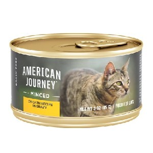 American Journey Minced Chicken Recipe in Gravy Grain-Free Canned Cat Food - Best Food for Hyperthyroid Cat: Natural Flavor and Moisture