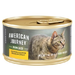 American Journey Minced Chicken & Salmon Recipe in Gravy Grain-Free Canned Cat Food - Best Food for Cats with Kidney Disease: Grain-Free Formulation Food