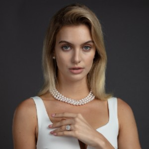 American Pearl Triple Strand Necklace - Best Pearl Necklace: High-Quality Triple Strand Pearl Necklace