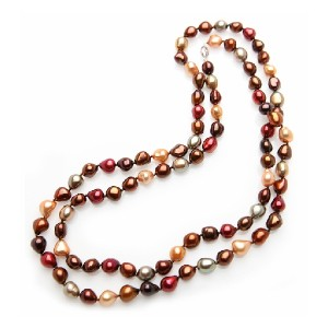 American Pearl Candy Color Opera Pearl Necklace - Best Pearl Necklace: Candy Pearl for Cheerful Style