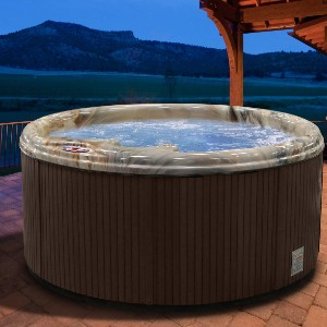 American Spas Hot Tub AM-511-RM 5-Person 11-Jet Round with Free Cover - Best Four-Person Hot Tubs: Hot Tub with A Heavy-Duty Heater
