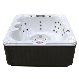American Spas 7-Person 30-Jet Hot Tub with Backlit LED Waterfall - Best Hot Tubs Under $5000: Hot Tub with Thermo Shield Insulation