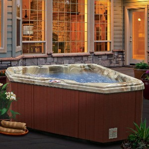American Spas Hot Tub AM-628TM 2-Person 28-Jet Triangle with Free Cover - Best Hot Tubs Under $5000: Triangle Hot Tub with Heavy-Duty Heater