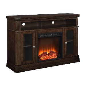 Ameriwood Home Brooklyn Electric Fireplace TV Console - Best Electric Fireplace for Bedroom: Last up to 50,000 hours!