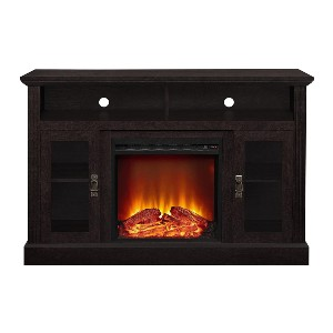 Ameriwood Home Chicago Electric Fireplace TV Console - Best Electric Fireplace for Basement: Last up to 50,000 hours!