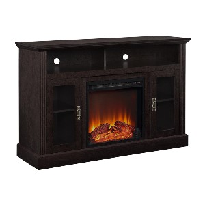 Ameriwood Home Chicago Electric Fireplace TV Console - Best Electric Fireplace for RV: Last up to 50,000 hours!