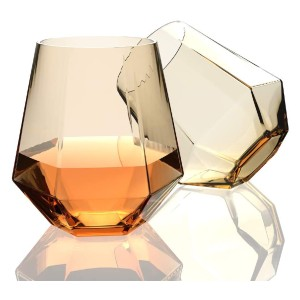 Amesser Whiskey Glasses Old Fashioned 11 - Best Glass for Gin and Tonic: Remain Extremely Comfortable in Hand