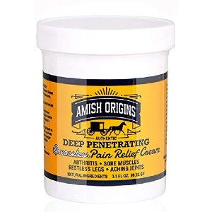 Amish Origins Deep Penetrating Pain Relief Cream - Best Pain Cream for Back: Long Lasting, Ultra-Soothing Effects