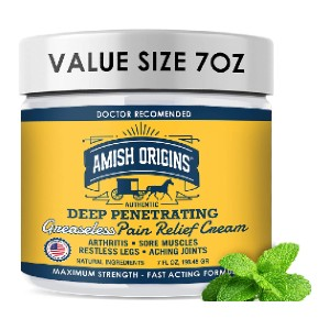 Amish Origins Deep Penetrating Pain Relief  - Best Pain Cream for Sciatica: Long-Lasting Relief Cream