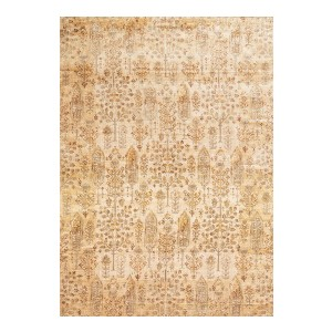 Loloi Anastasia AF-11 Ant Ivory / Gold - Best Rug for Queen Size Bed: Intricate detail
