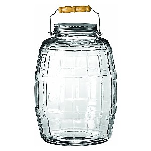Anchor Hocking Glass Barrel Jar with Lid - Best 2 Gallon Water Jugs: Thick Glass Jar