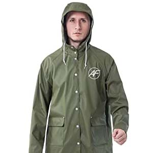 Andes Forest Men's Raincoat with Hood - Best Raincoats for Men: You can keep it in a pouch