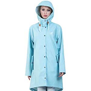 Andes Forest Women's Raincoat with Hood - Best Raincoats for Cycling: Lovely and paackable