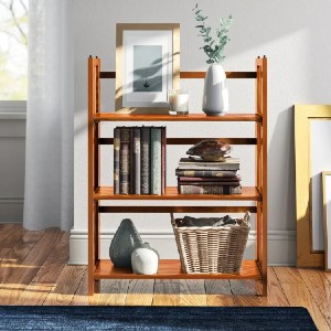 Andover Mills™ Moeller  Solid Wood Etagere Bookcase - Best Bookcases for Heavy Books: Classic Style Bookcase
