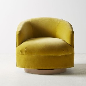 Anthropologie Amoret Swivel Chair - Best Leather Armchair: Swivel Design