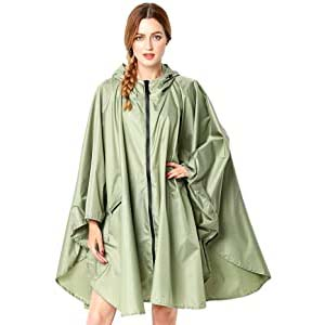 Anyoo Lightweight Waterproof Rain Poncho - Best Raincoats for Summer: Flattering designs with no leakage