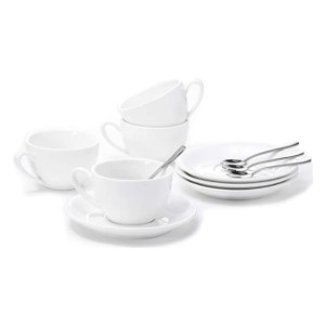 Aozita Porcelain Cappuccino Cups and Saucers - Best Porcelain Espresso Cups: Best for budget