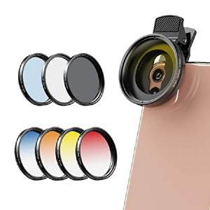 Apexel Color Filter Accessory Kit - Best Circular Polarizing Filters for Iphone: Changing your picture's mood