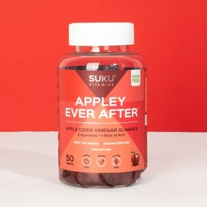 SUKU Vitamins Appley Ever After - Best Apple Cider Vinegar Gummies for Weight Loss: Sugar-Free, Sugar-Alcohol Free and Keto-Friendly