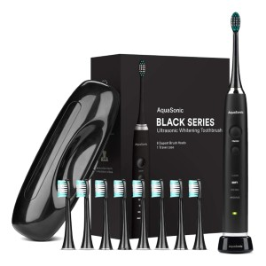 AquaSonic Black Series Ultra Whitening Toothbrush - Best Electric Toothbrush: Dashing Colour for Cleaning Your Teeth