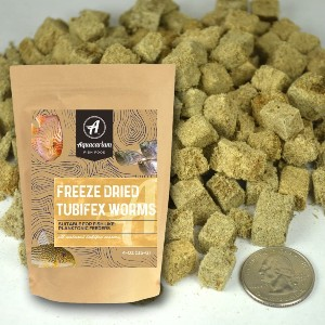 Aquacarium Tubifex Worms Freeze Dried Bulk Tropical Fish Food - Best Fish Food for Guppies: Excellent Freeze-Dried Food