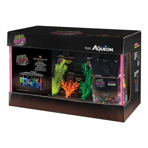 Aqueon Fish Aquarium Starter Kits LED NeoGlow - Best Tank for a Turtle: Perfect for baby turtle